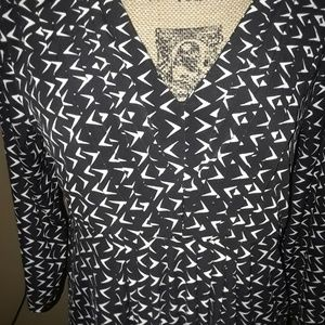 Daisy Fuentes Tops - Daisy Fuentes black and white blouse